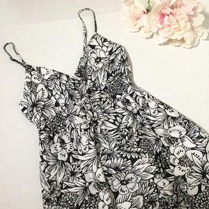 Aeropostale Dresses - Long maxi Hawaiian cotton dress black-and-white